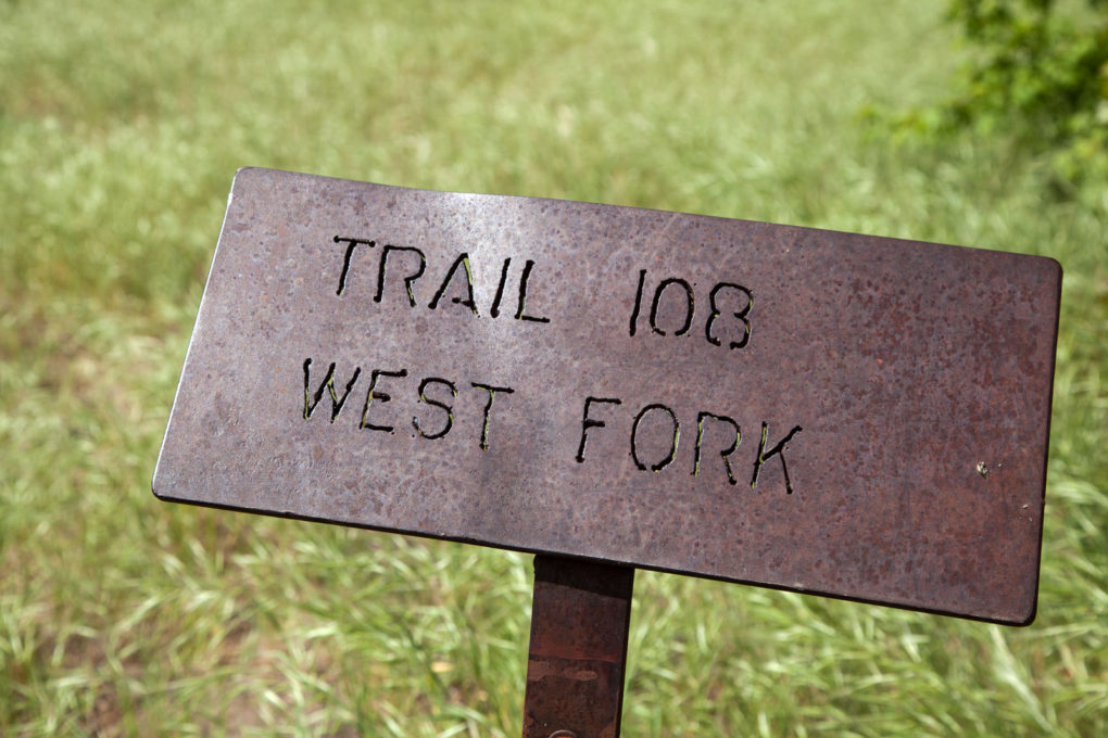 West Fork Trail sign